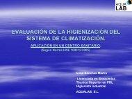 EVALUACIÓN DE LA HIGIENIZACIÓN DEL SISTEMA DE ... - CRESCA