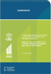Submission to Senate Standing Committee inquiry - CRC Association