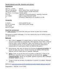 Salade Taboulé sans blé (sans gluten) - SPEFSA