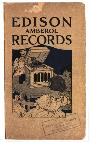 Edison Amberol Records 1920 - British Library - Sounds