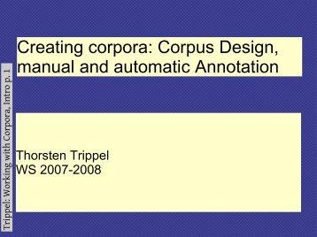 Creating corpora