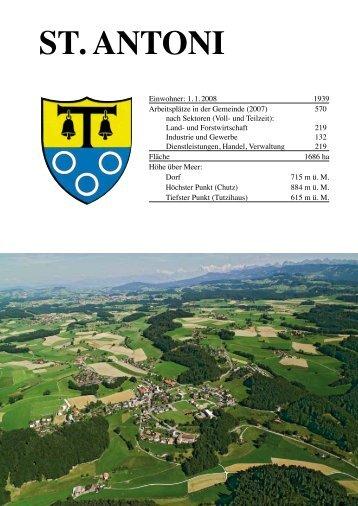 Faltblatt zur Gemeinde St. Antoni 2008 - Deutschfreiburger ...