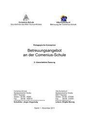 Konzept für die - Comenius-Schule Eppstein
