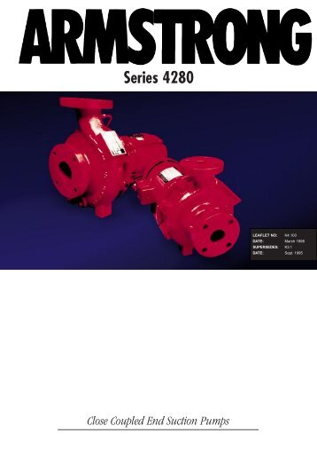 Series 4280 Close Coupled End Suction Pumps - Tomlinson Hall