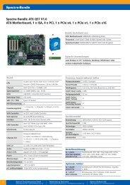 Spectra-Bundle ATX Q57 V1.0 ATX-Motherboard, 1 x ISA, 4 x PCI, 1 ...