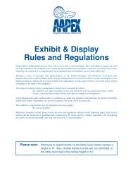 Exhibit & Display Rules and Regulations - Aapex