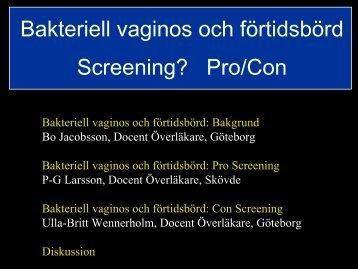 Bo Jacobsson Docent, Överläkare - SFOG