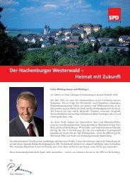 Der Hachenburger Westerwald – Heimat mit Zukunft