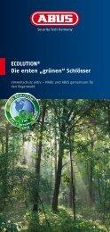 """ECOLUTION® Die ersten """"grünen"""" Schlösser - Abus"""