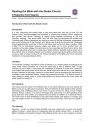 Reading the Bible with the Global Church - A ... - Redcliffe College