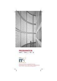 PROGRAMMATION - Maison de l'Architecture Languedoc-Roussillon