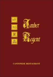 Amber Regent Menu 2015