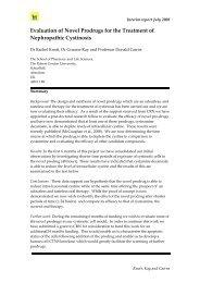 Evaluation of Novel Prodrugs for the Treatment of Nephropathic ...