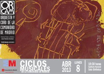 Programa de mano 8 de abril - Orquesta y Coro de la Comunidad ...