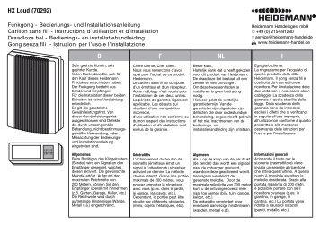 HX Loud (70292) NL F D I - Heidemann