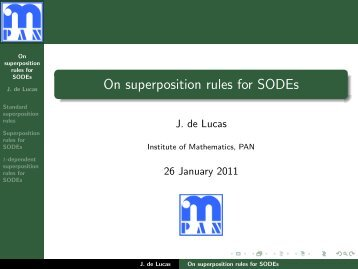 On superposition rules for SODEs