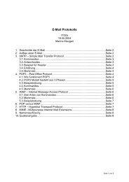 E-Mail Protokolle - BBS I - Technik - Kaiserslautern