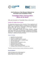 Competition Policy and Innovation: Where do we stand?