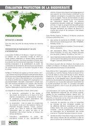 ÉVALUATION PROTECTION DE LA ... - Planète Urgence