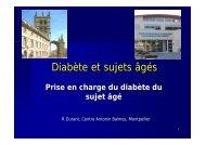 Diabète et sujets âgés - sofomec