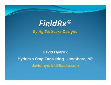 Field R x by Ag Software Designs