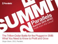 Profiting from Cloud: Making it Mainstream through ... - Parallels
