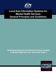 Local Area Information Systems for Mental Health Services: General ...