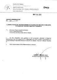 MAY 04 2611 - DepEd Cebu Province