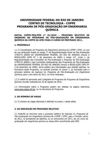 UNIVERSIDADE FEDERAL DO RIO DE JANEIRO ... - peq / coppe / ufrj