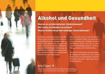 Broschüre 'Alkohol und Gesundheit