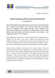 Wyniki finansowe polskiej branży bukmacherskiej