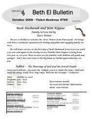 October 2008 - Temple Beth El