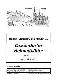 Unser Dorf soll schöner werden Unser Dorf hat Zukunft - Ossendorf