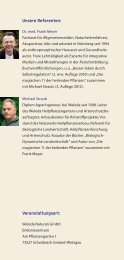 Unsere Referenten: Dr. med. Frank Meyer Facharzt für ... - Weleda