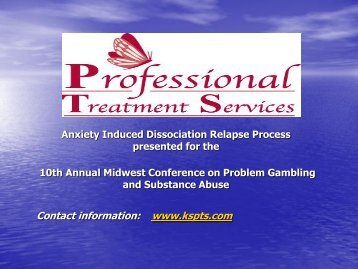 Anxiety Induced Dissociation Relapse Process - 1-888-betsoff
