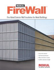 Fire-Rated Exterior Wall Insulation for Metal Buildings - TLP Insulation
