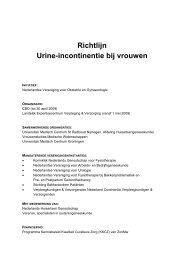 Richtlijn Urine-incontinentie bij vrouwen - Diliguide