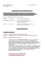 Regimentsbefehl zum Schützenfest 2011 - Spiel- und Bürgerverein ...