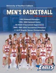 men's basketball - University of Southern Indiana