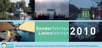 2010 Sonderfahrten Linienfahrten - Speldorf
