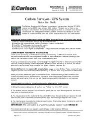 Surveyor+ Rover Quick Start Guide - Carlson Software