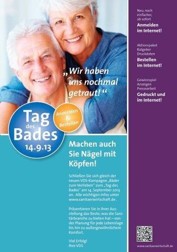 Aktionsfolder 2013 - Vereinigung Deutsche Sanitärwirtschaft eV
