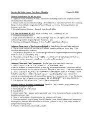 Fayetteville Shale Agency Task Force Checklist - Memphis District