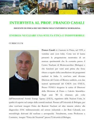 """intervista al prof. franco casali """"energia nucleare ... - lostatoperfetto.it"""