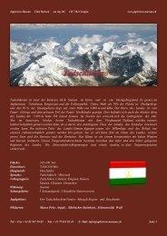 Tadschikistan ist einer der kleinsten GUS- Staaten im Osten und ist ...