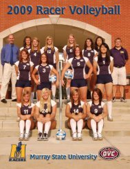 2009 Volleyball Media Guide - Murray State University