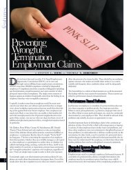 Preventing Wrongful Termination Employment Claims