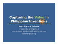 Capturing the Value in Philippine Inventions - International ...