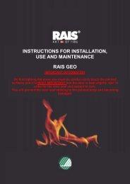 Rais Geo Installation, Use and Maintenance Manual - Robeys Ltd