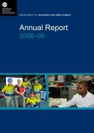 Annual Report - Department of Business - Northern Territory ...